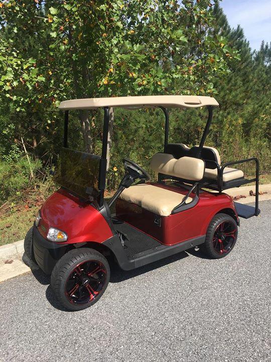 Custom Burgundy EZGO Golf Cart - Lanier Carts and Outdoors
